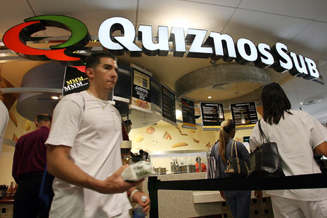 Today the Quiznos Sub network includes over 4,500 restaurants in the U.S. and 25 other countries. Source: Alamy / Legion Media.