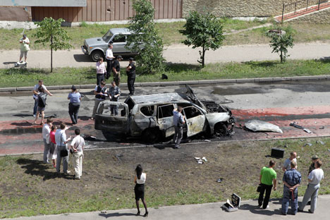 The Tatarstan mufti's service car was blown up in Kazan on June 19, causing fatalities. Source: ITAR-TASS