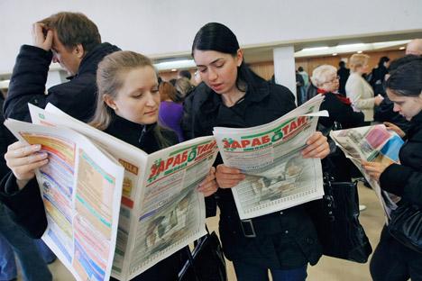 Jovens até 24 anos de idade foram os que mostraram maior disposição de trabalhar para o Estado Foto: Ruslan Krivobok/RIA Nóvosti
