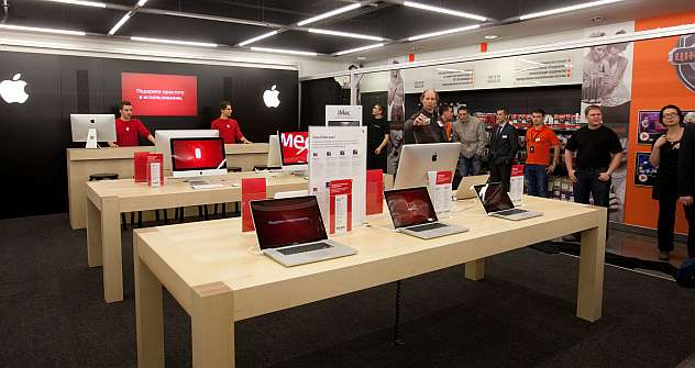 After the registration of Apple Rus the corporation is likely to start direct wholesale sales in Russia in 2013. Source: Anton Belitskiy / RIA Novosti