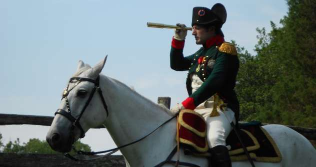 Mark Schneider appeared for the first time as Napoleon at Borodino reenactment in 2007. Source: Press Photo.
