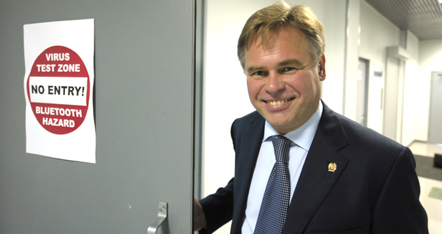 Russia accounted for only 5 percent of cybercrime in 2011. Pictured:  Eugene Kaspersky who founded Russian multi-national computer security company, Kaspersky Lab. Source: RIA Novosti