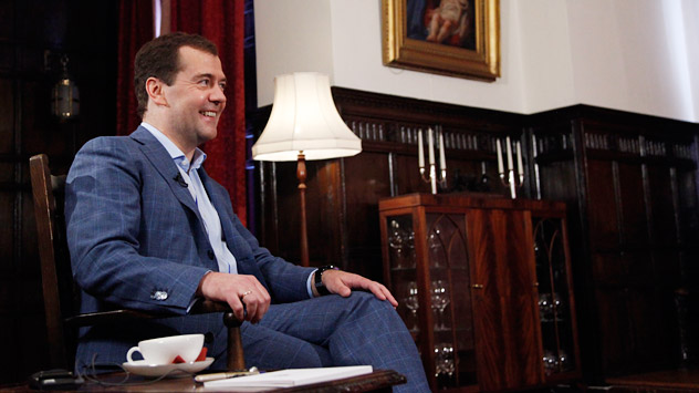 "Russian Prime Minister Dmitry Medvedev: ""Our civil society has become far more developed, diversified, multi-faceted and much more active. This is the maturing of democracy and development of civil society."" Source: ITAR-TASS"