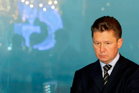 Gazprom now faces a fine equal to 10 percent of its annual revenue in the EU (roughly $6 billion) if it is found guilty. Pictured: Gazprom head Alexey Miller. Source: AP