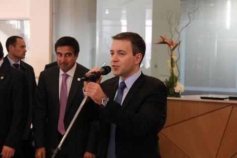 Nikolaj Nikiforov, ruski minister za zveze in množične komunikacije, je obiskal Slovenijo.