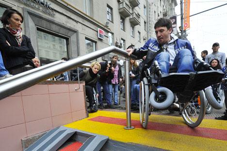 Quase 2.000 edifícios públicos ganharam acesso para deficientes em 2013 Foto: RIA Nóvosti