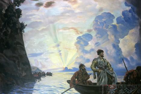 "Soviet painting ""Stepan Razin"" by Russia's XIX century artist  Boris Kustodiev. Source: RIA Novosti"