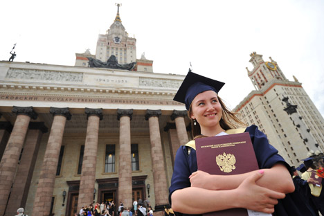University degrees were very highly regarded in the Soviet Union, and this created fierce competition for places. Source: Ramil Sitdikov / RIA Novosti.