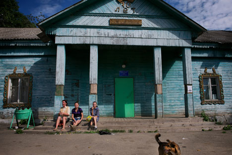 The school in Opolye village, located in the Vladimir Region. Source: Kommersant