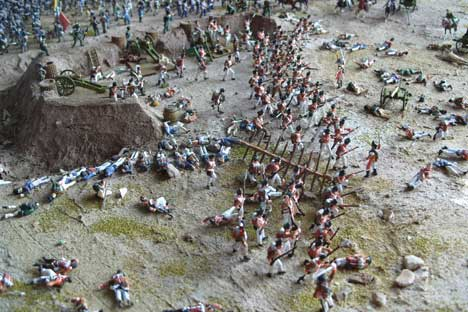 Military enthusiast Gerry West has made a diorama of the Borodino battle. Source: Press Photo.
