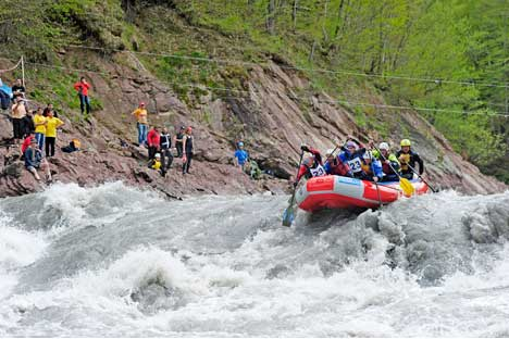 River ride: Adygea is one of Russia's most important rafting areas. Trips start at two hours for beginners. Source: Press Photo.