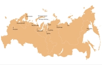 Map: Russian cities where you can see the polar light