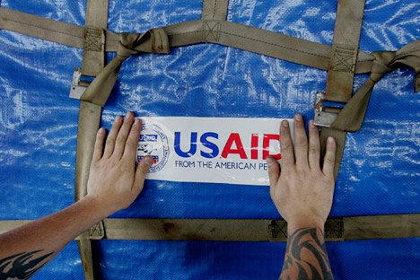 The USAID mission in Russia came to an end. Source: AP