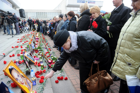 The Dubrovka terrorist attack shook Russia's community in October 2003. Source: RIA Novosti / Kirill Kalinikov