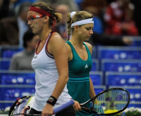 "Russia's tennis player Maria Kirilenko (right) during the 2012 International Tennis Tournament ""Kremlin Cup"" that took place in Moscow last week. Source: RIA Novosti / Alexey Kudenko"