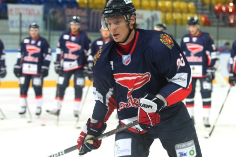 "Alexander Semin: ""I have the chance to play for my hometown team, and it will be fantastic to put on a Sokol jersey."" Source: RIA Novosti"