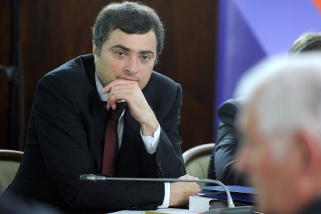 Russia's Deputy Prime Minister Vladislav Surkov: There is no contradiction between religious doctrines and hi-tech innovations. Source: RIA Novosti