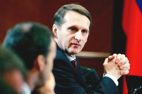 Chairman of the State Duma Sergei Naryshkin.