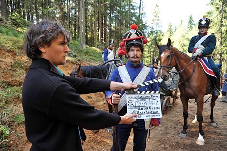 """Produção de Vasilisa Kojina"""", filme dedicado a Guerra Patriótica de 1812 contra as tropas de Napoleão Foto: ITAR-TASS"""