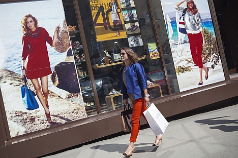 Shoppers in Moscow were ranked 41st globally in terms of purchasing power based on a survey by UBS. Source: Corbis / FotoSA