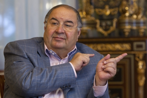 Alisher Usmanov, co-owner of Megafon (Russia's 2nd largest cell phone provider) has an estimated fortune of $18.1 billion, according to Forbes. Source: Reuters / Vostock-Photo