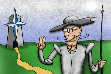 Nato and Russia. Drawing by Niyaz Karim