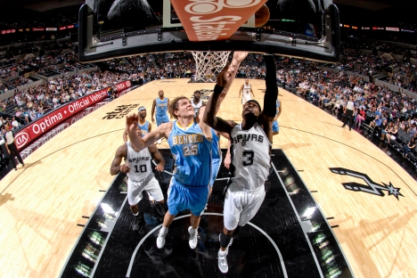 Timofey Mozgov of the Denver Nuggets made it into the Nuggets starting lineup for the first time the NBA preseason and helped his team build up a 6–1 lead in the game. Source: Getty Images / Fotobank