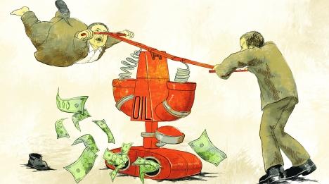 Oil Curse. Drawing by Natalia Mikhaylenko