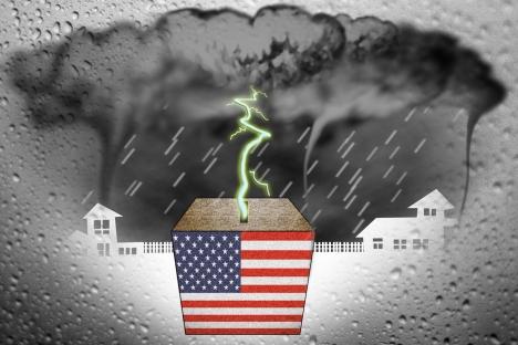 Hurricane Sandy. Drawing by Niyaz Karim