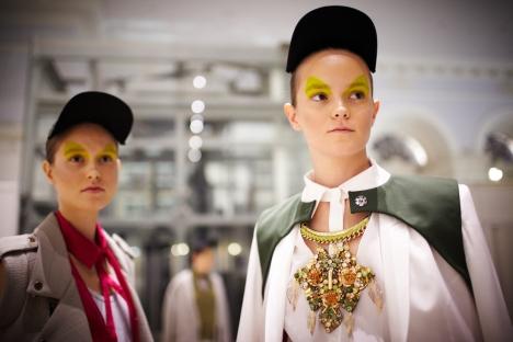 As is now customary for Mercedes-Benz Fashion Week in Moscow, the headliners included Russian designers Oleg Biryukov and Svetlana Tegin. Source: Elena Pochetova