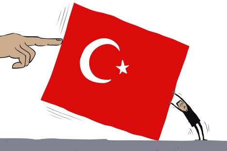 Syria and Turkey. Drawing by Sergey Yolkin