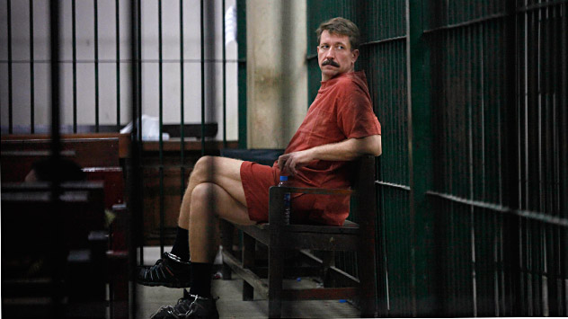 Viktor Bout's yellow-brigt robe will be set in an auction organized by his wife. Source: Reuters / Voctock-Photo