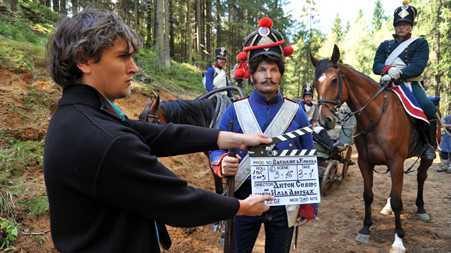 """Pictured: The production of the """"Vasilisa Kozhina"""" movie dedicated the 1812 Patriotic War with Napoleon's troops. Source: ITAR-TASS"""