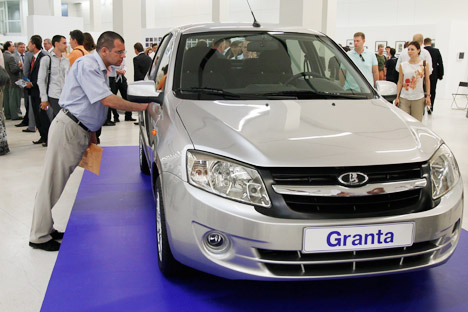 Lada Granta sales started in late December 2011, and it has been the best-selling model on the Russian market for the last two months. Source: AP.
