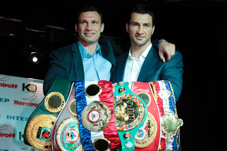 Vitaly and Wladimir Klitschko. Source: RIA Novosti.