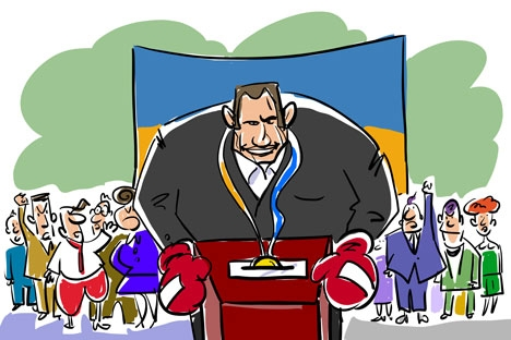Elections in Russia. Drawing by Alexei Yorsh