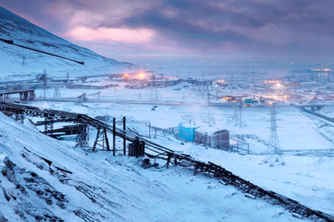 Polar city: Norilsk was built in the Thirties so that nickel and copper could be mined for the defence industry. Source: Press Photo