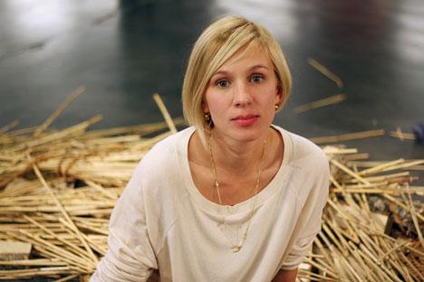 Designer Valeria Siniouchkina's Russian ancestry inspires her brand, OMSK. Source: Slava Petrakina