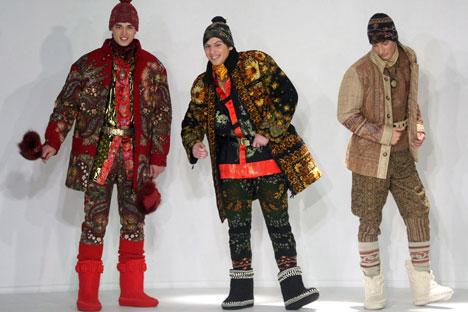 Valenki are featuring in magazine fashion spreads. Source: ITAR-TASS