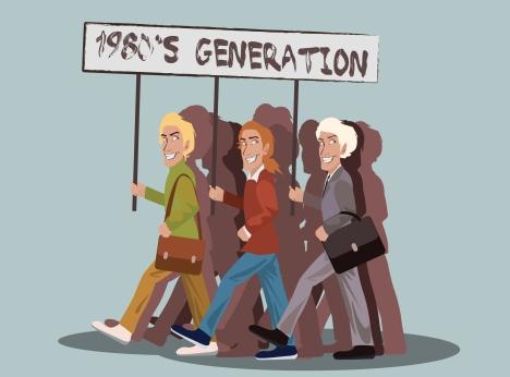 1980's generation. Drawing by Alena Repkina.