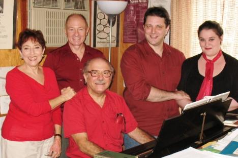 Leanard Lehrman, center, with participants in the mini-festival. Source: PhotoXPress