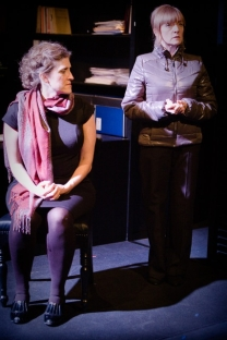 Wendy Nottingham (right) and Rebecca Payton (left) playing Magnitsky's wife and mother. Source: Helen Warner