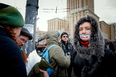 The Russian protest movement is at a crossroads, according to experts. Pictured: Post-election protests held on December 24, 2011. Source: Ruslan Sukhushin