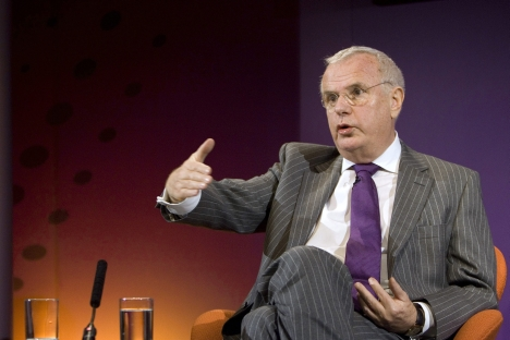 Britain's former Treasury Minister Paul Myners speaks during a news conference at Thomson Reuters' office in east London December 16, 2009. Source: Reuters / Vostock Photo