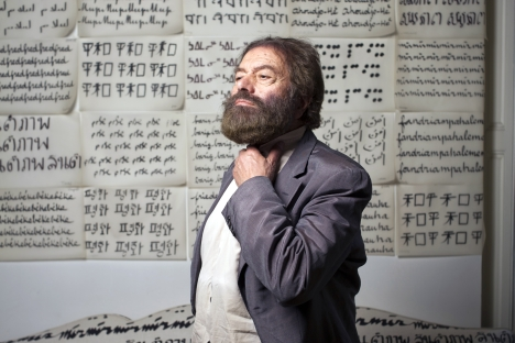 "Writer and director Marek Halter: ""When I was born, 11 million people spoke Yiddish. And then I come to Siberia, where signs on the houses are all written in two languages and children are taught Yiddish at school."" Source: AFP / East News"