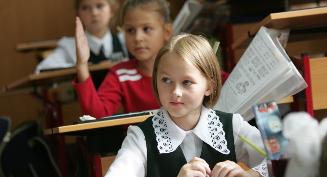 Segregated education may have a positive effect on pupils because boys and girls perceive the same information in different ways, some Russian experts claim. Source: ITAR-TASS