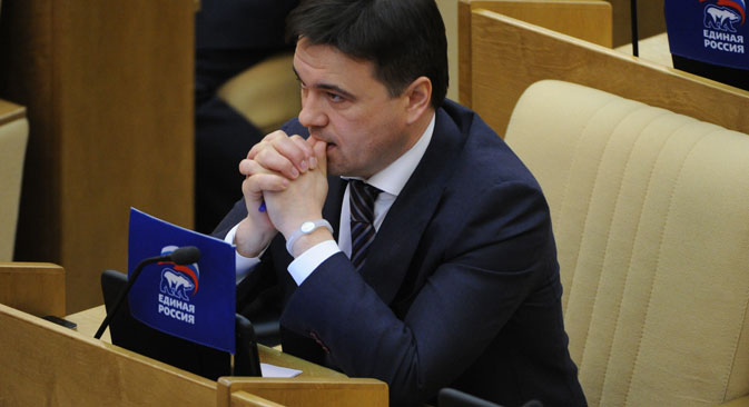 Andrei Vorobyov is the energetic 42-year-old leader of the United Russia faction in the State Duma. Source: ITAR-TASS.