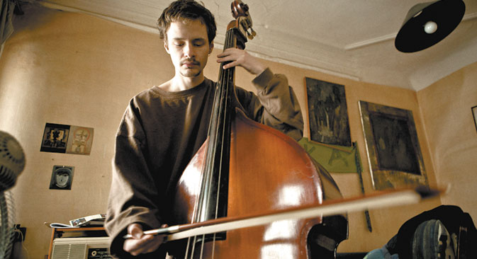 When he is not writing caustic pieces for the magazine, he plays the double-bass. Source: Kirill Lagutko.