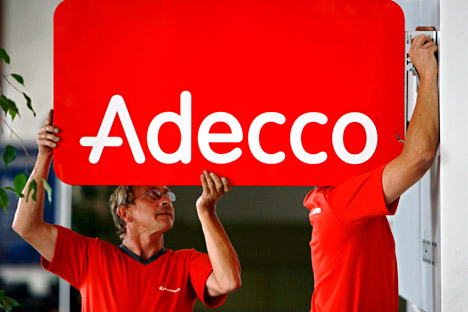 State Duma seeks to restrict the operations of foreign recruiting agency subsidiaries. Pictured: the Adecco recruiting company. Source: AP