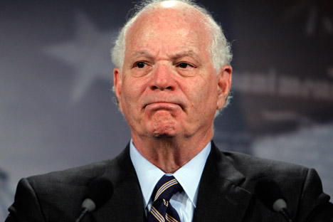Sen. Benjamin Cardin (D-MD) is among one of the main backers of the Magnistky Act. Source: AP